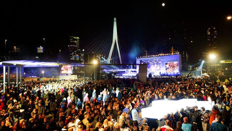 Bezoekers van The Passion vorig jaar in Rotterdam Beeld ANP