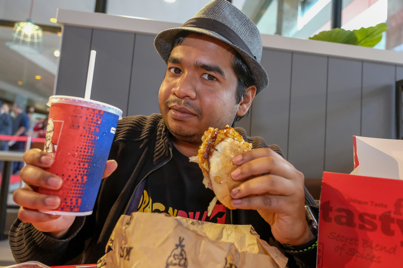 KFC-liefhebber Nabil M.