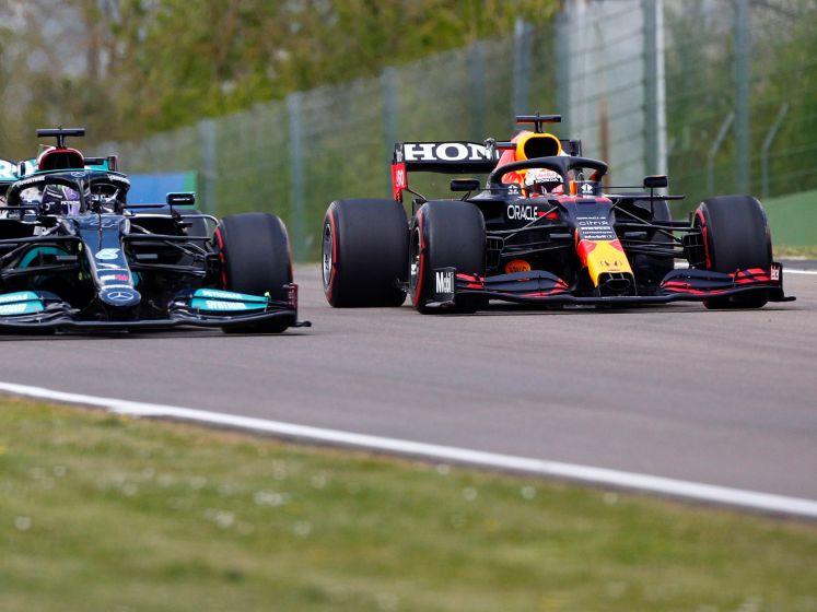 Miniem verschil tussen Verstappen en Mercedes in eerste training Imola