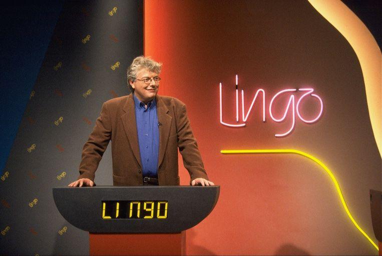 Presentator François Boulangé in 1995.<br /><br />Lingo vierde begin dit jaar zijn 25-jarig bestaan. Op 5 januari 1989 was de eerste aflevering op de buis, onder leiding van presentator Robert ten Brink. Ook onder anderen François Boulangé en Nance leidden het woordspel. Sinds september 2005 is Lucille Werner het vaste gezicht. Beeld ANP