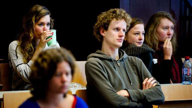 Studenten van de Universiteit van Amsterdam. Beeld anp