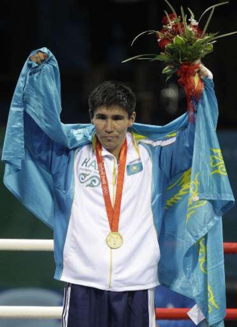 Bakhyt Sarsekbayev, goud bij de weltergewichten. Beeld UNKNOWN