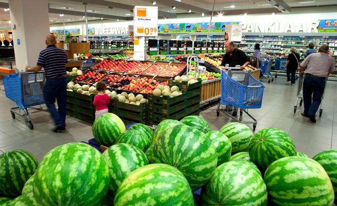 Fruitafdeling in een supermarkt