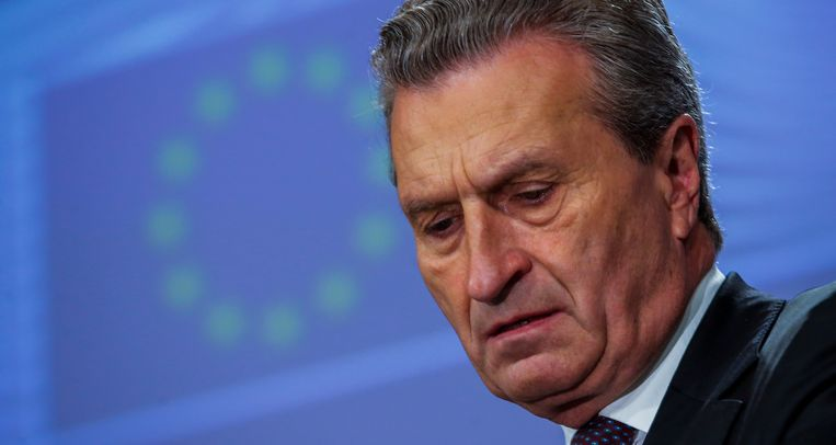 Europees begrotingscommissaris Guenther Oettinger