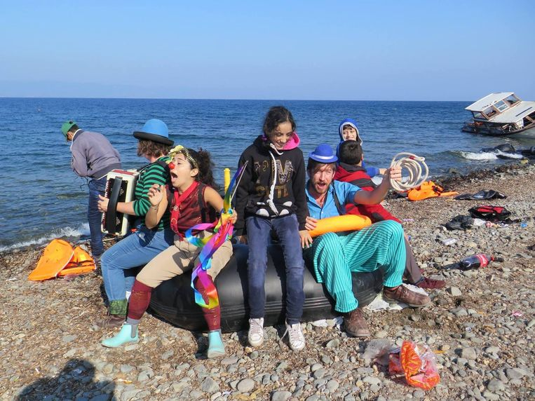 Lesbos, Griekenland. Beeld Clowns without Borders