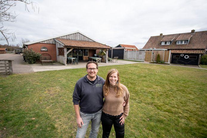 """Raymond Meenhuis en zijn vrouw Joyce van zorgboerderij De Piet: """"Meerdere horeca-ondernemers wensten ons succes toe met ons uitbreidingsplan."""""""