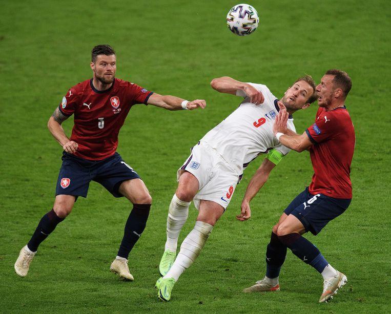 Harry Kane tijdens de groepsfase in Wembley. Beeld Photo News