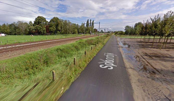 De Spoordijk tussen Tilburg en Oisterwijk ter hoogte van Heukelom