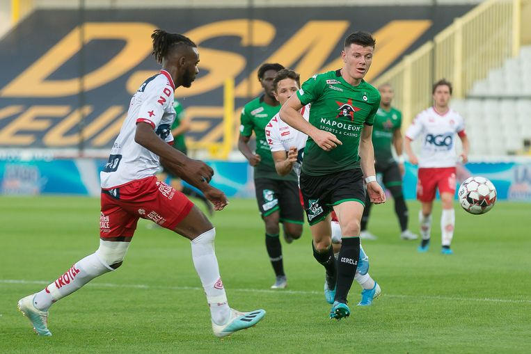 Kortrijk's Ilombe Mboyo pictured during a soccer match between Cercle Brugge and KV Kortrijk, Saturday 10 August 2019 in Brugge, on the third day of the 'Jupiler Pro League' Belgian soccer championship season 2019-2020. BELGA PHOTO JAMES ARTHUR GEKIERE