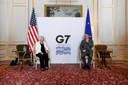 De Amerikaanse minister van Financiën Janet Yellen (links) met de voorzitter van de eurogroep Paschal Donohoe, afgelopen zaterdag tijdens de G7-top in Londen.