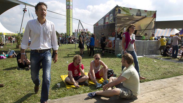 Minister Dijsselbloem (Financiën) op het festival Lowlands in 2013. Beeld anp