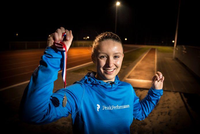 Carlijn ter Laak uit Enschede is een van de atleten die traint bij het regionale trainingscentrum Atletiek Oost.