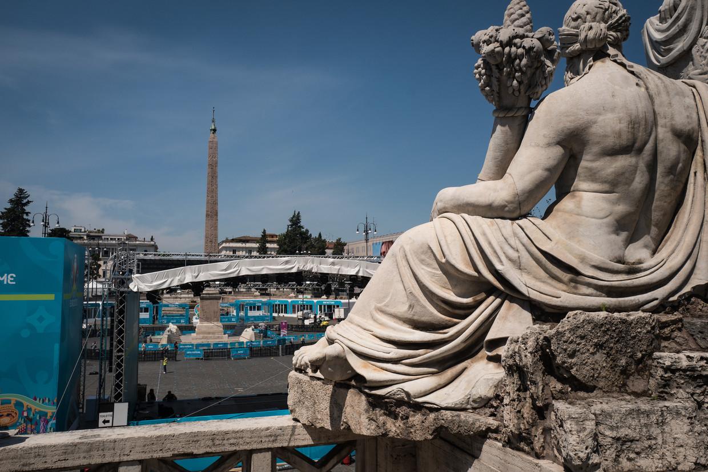 Het Piazza del Popolo in Rome. Beeld Nicola Zolin