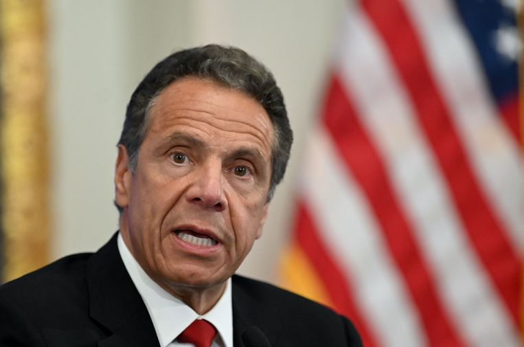 De New Yorkse gouverneur Andrew Cuomo  Beeld AFP