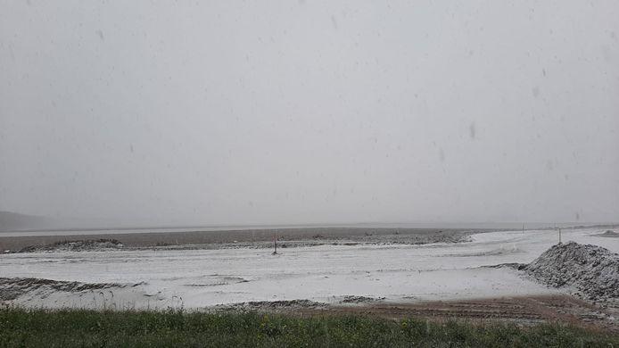 Sneeuw in Zevenbergschen Hoek.