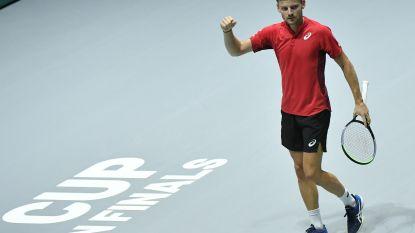 """Vorm Goffin baart wat zorgen, maar Belgen in Davis Cup wel voorbij Colombia: """"Het was niet goed"""""""