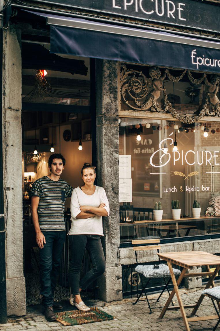 Louis Wargnies en Maryna Khachaturan serveren in Epicure een beperkt menu met enkel  de beste ingrediënten uit de regio. Beeld Eva Vlonk