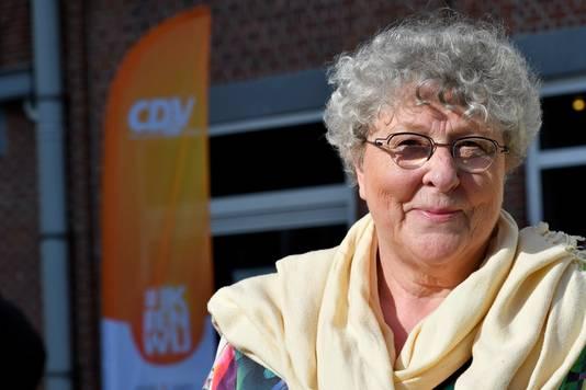 Mieke Van Hecke, lijsttrekster voor CD&V in Gent, bij de gemeenteraadsverkiezingen in 2018.