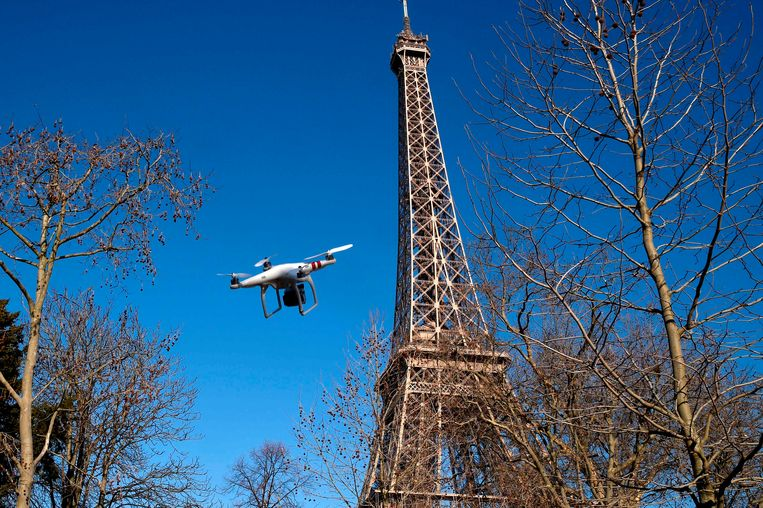 Archiefbeeld van een drone in Parijs