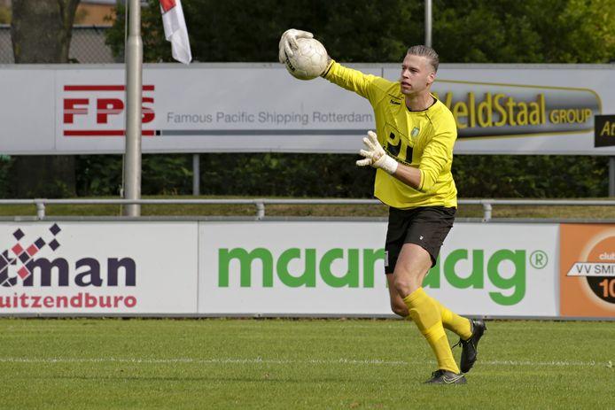 Jan Schimmel, hier nog in het shirt van Achilles Veen, staat volgend seizoen bij Kozakken Boys onder de lat.