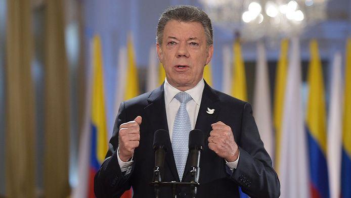 Juan Manuel Santos, président de la Colombie.