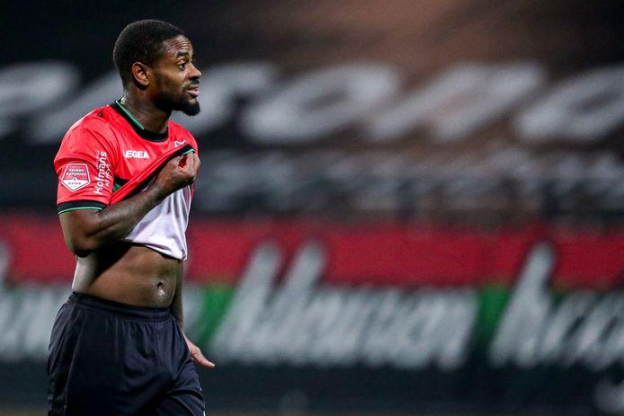 Terell Ondaan van NEC na de wedstrijd tegen Helmond Sport.