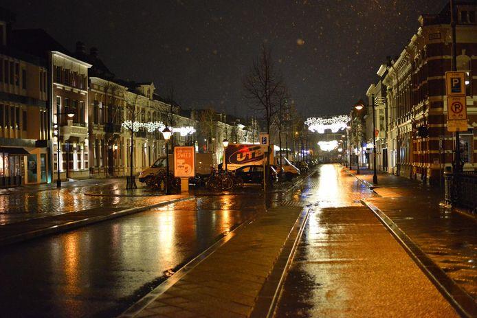 Het verlaten centrum van Breda.