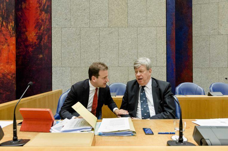 Ministers Asscher en Opstelten in 2014. Beeld anp