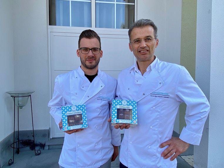 Glenn Peeters (links) en Johan De Maere van het IJstaartenhuis.