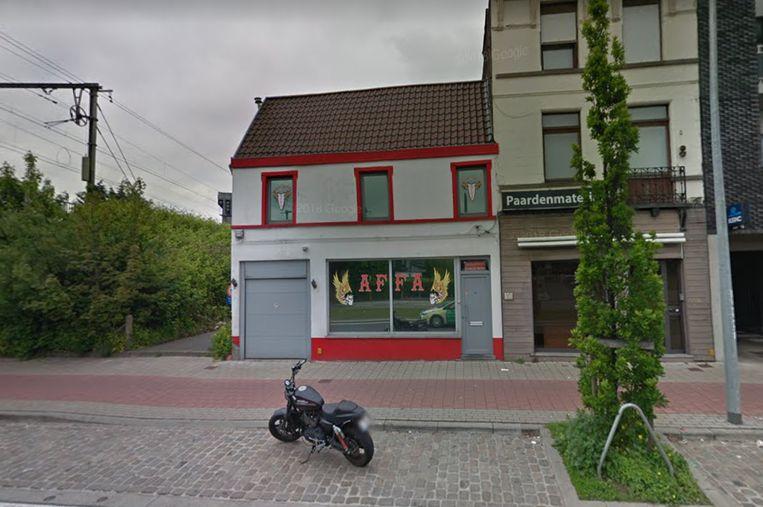 Het clublokaal van de Hell's Angels in Gentbrugge. Beeld Google Maps