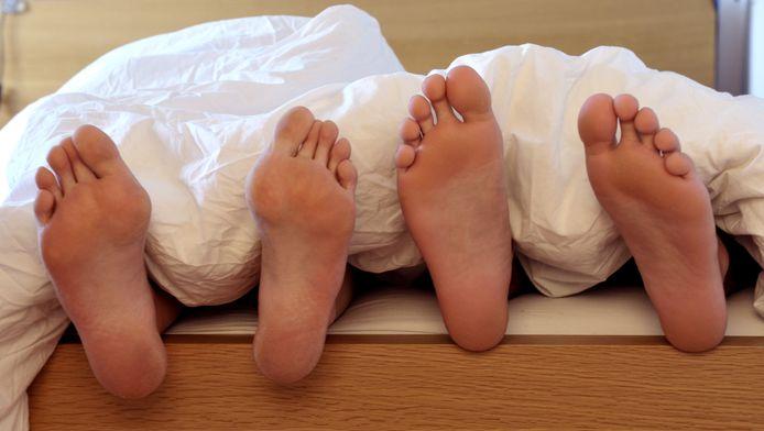 De slaapproblemen hebben ook effect op de partner.