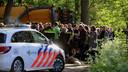 De hulpdiensten in actie tijdens het protest in Boxtel.