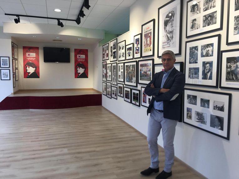 Voorzitter Thierry Dailly is erg vereerd met het Raymond Goethals-museum.