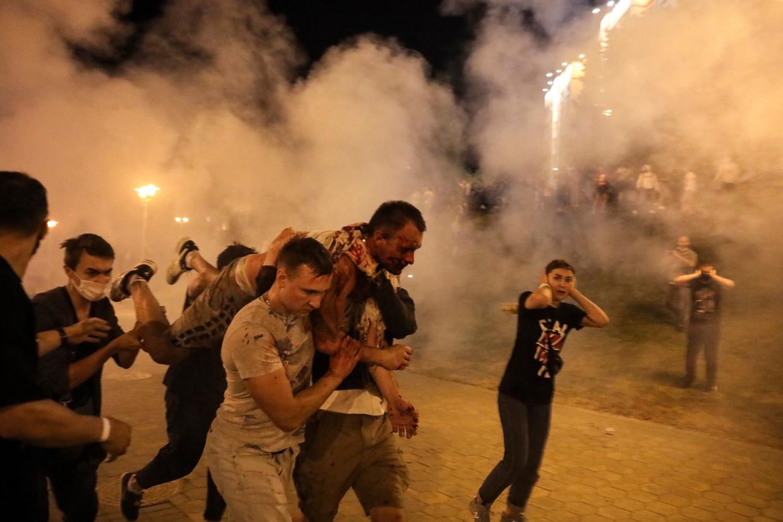 Bij de protesten in Belarus nam Nexta tegelijk de rol van verslaggever en katalysator aan. Beeld AP