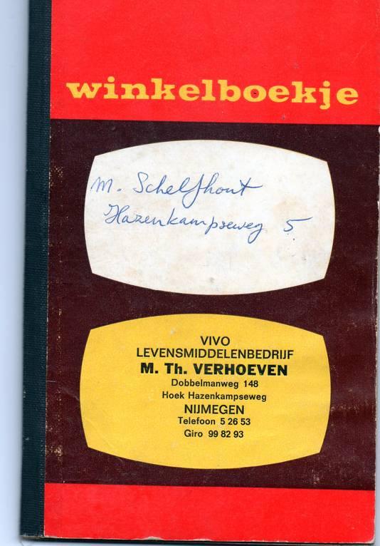Het boodschappenboekje uit 1969.