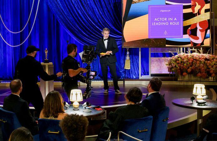 Joaquin Phoenix tijdens de Oscars.