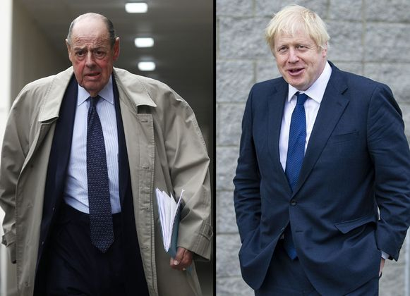 Kleinzoon Churchill en premier Johnson.