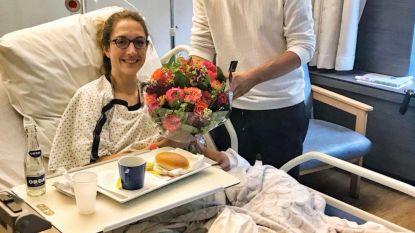 Nieuwsanker Hanne Decoutere opgenomen in het ziekenhuis