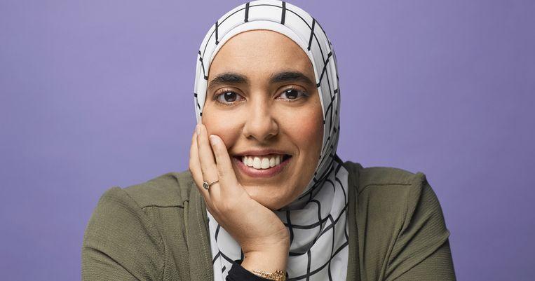 Huda Fahmy: 'Het gearrangeerde huwelijk moet gerespecteerd worden. Loopt het in westerse huwelijken altijd zo goed af?' Beeld RV