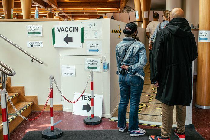 Le centre de test et de vaccination Pacheco à Bruxelles.
