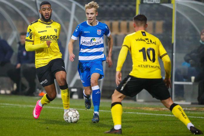 Dean Huiberts speelde dit seizoen negen van de tien wedstrijden voor PEC Zwolle.