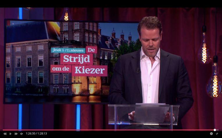 Martijn Koning bij Jinek Beeld RTL