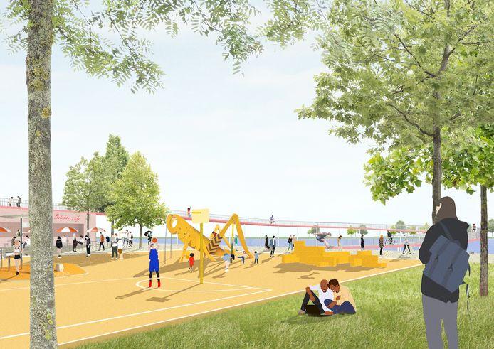 Conceptontwerp en toekomstbeelden van de Slachthuiswijk.