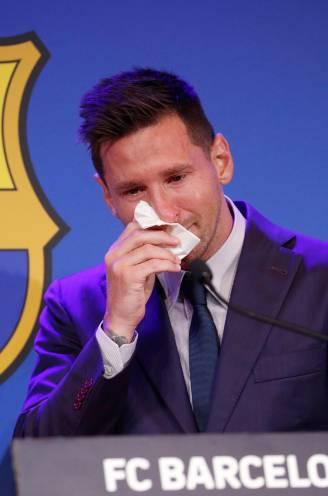 """Lionel Messi, die transfer naar PSG niét ontkent, in tranen op persconferentie: """"Ik had nooit gedacht Barça te moeten verlaten"""""""