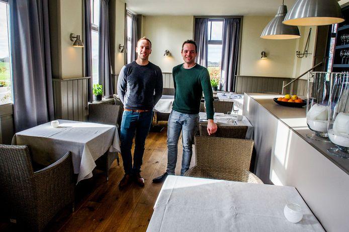 Eigenaren van restaurant 't Lieve Leven en broers Hylke en Lars van Hout.