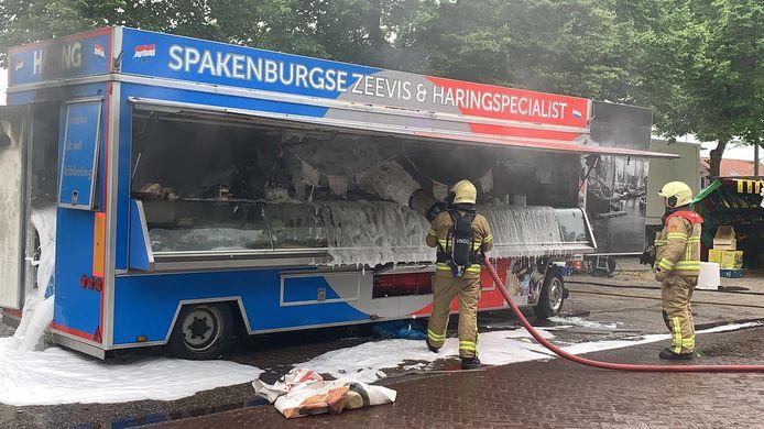 De brandweer had de vlammen vrij snel onder controle
