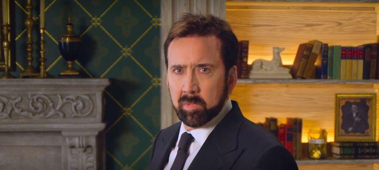 Nicolas Cage als beschaafde heer in History of swearwords. Beeld