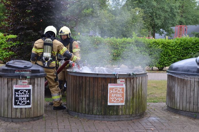 Containerbrand in Boxtel.