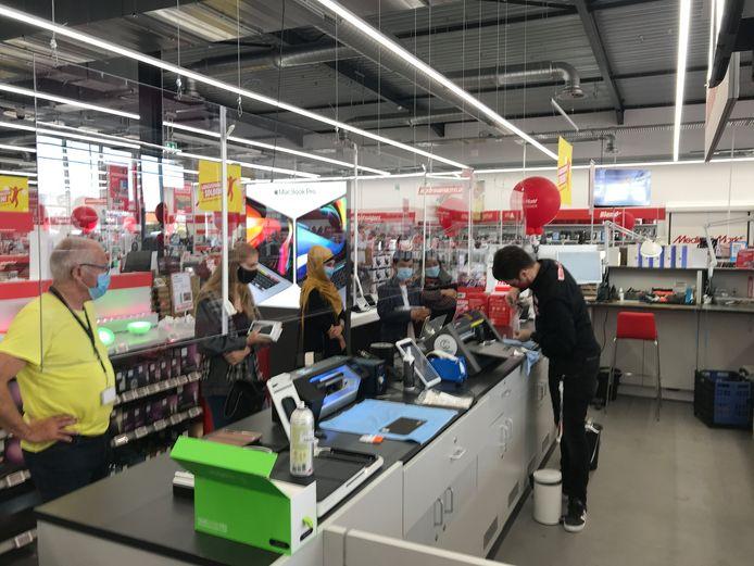Een 'solutions corner' in Mediamarkt