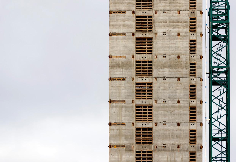 De bouwlocatie aan de Zuidas waar een kantoor voor het geneesmiddelenbureau Europees Geneesmiddelen Agentschap (EMA) wordt gebouwd.